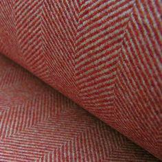 A beautiful wool herringbone curtain and upholstery fabric.