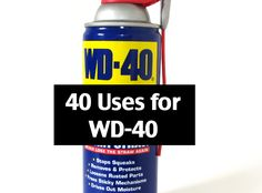 Most people think of WD-40 as just a lubricant that helps take the squeak out of door hinges. However, it can be used for pretty much anything.