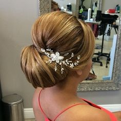 Wedding Chignon With A Bouffant