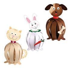 Ursus 23250099 - Funny Paper Balls Haustiere, 30 Papierstreifen, 210 g / qm, vorgelocht: Amazon.de: Spielzeug