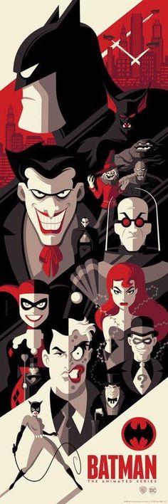 "longlivethebat-universe: ""Batman the Animated Series by Tom Whalen "" Joker Batman, Batman Art, Joker And Harley, Superman, Batman Cartoon, Marvel Dc Comics, Bd Comics, Comic Books Art, Comic Art"