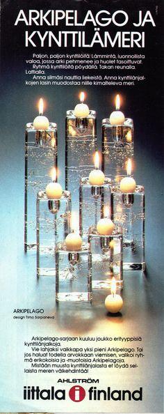 Iittala, Arkipelago - Timo Sarpaneva (Kl 1982,23) Danish Modern, Mid-century Modern, Inside A House, Lassi, Candels, Soft Furnishings, Scandinavian Design, Finland, Glass Art