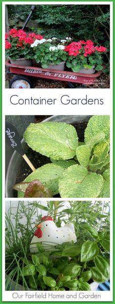Container Garden Ideas ~ Our Fairfield Home and Garden