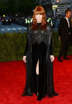 Florence Welch - Red Carpet Arrivals at the Met Gala