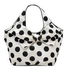 faux croc handbags - Lola Ramona - Boatie Red White Black Polka Dot handbag shoulder ...