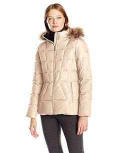 Calvin Klein Women's Down Puffer Short Coat with Faux Fur Trimmed Hood - http://www.darrenblogs.com/2017/03/calvin-klein-womens-down-puffer-short-coat-with-faux-fur-trimmed-hood/