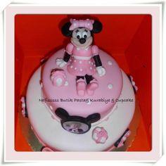 birthday, cake, girl, minnie mouse, pink, baby                                                 Nefisssss Butik Pasta & Kurabiye & Cupcake.      http:/www.facebook/Nefisssss