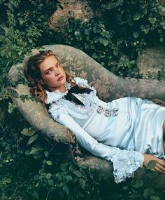 "Alice In Wonderland "" fashion editorial shot obviously by photographer superstar Annie Leibovitz with model Natalia Vodianova for Vogue US December 2003"
