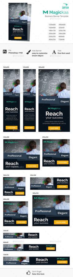 Magickaa Business Banner Template #design Download: http://graphicriver.net/item/magickaa-business-banner/12108405?ref=ksioks