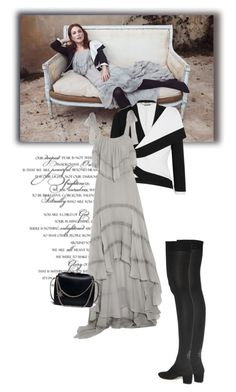 """Без названия #5594"" by bliznec ❤ liked on Polyvore featuring JULIANNE, Alexander McQueen, philosophy and Charlotte Olympia"