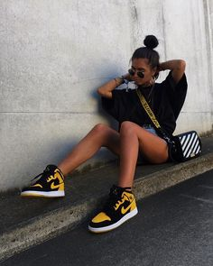 59 Fancy high heels to get inspired - Skater mädchen - Shoes Moda Sneakers, Sneakers Mode, Sneakers Fashion, Nike Sneakers, Mode Outfits, Trendy Outfits, Fashion Outfits, Fashion Trends, Fashion Fashion