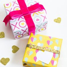 Make your Valentine's Day gifts stand out with this free printable gift wrap!