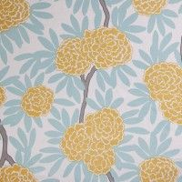 Mustard Fleur Chinoise from Caitlin Wilson Textiles