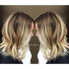 Rooted brunette and blonde balayage. Pretty color melt for a natural low maintenance look. By @hairbyliana at @MODAedmonds