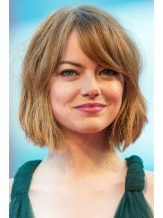 Emma Stone Short Cut Wig With Bangs