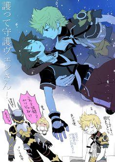 Kingdom Hearts - Sora and Ventus Kingdom Hearts Ventus, Kingdom Hearts Funny, Kingdom Hearts Fanart, Kindom Hearts, Pokemon, Photo Heart, Vanitas, Art Folder, Doujinshi