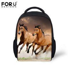 af8d2e0fbe cartoon animal kids backpacks kindergarten cool 3d wolf small shoulder bags  baby children bag pack toddler mochila infantil. crazy horse printing ...