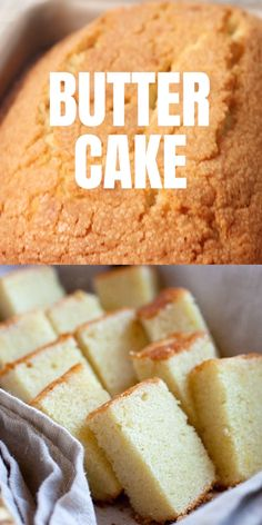 Butter Cake - the BEST butter cake recipe youll find online. This fail-proof recipe yields sweet, buttery and rich cake Fun Baking Recipes, Delicious Cake Recipes, Homemade Cake Recipes, Pound Cake Recipes, Yummy Cakes, Sweet Recipes, Snack Recipes, Easter Recipes, Healthy Cake Recipes