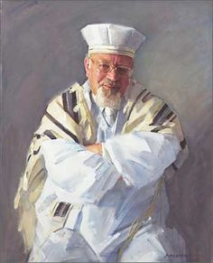 Rabbi Raymond Apple is chief rabbi at the Great Synagogue in Castlereagh Street, Sydney. Robert Hannaford's portrait of him was a commission to commemorate the Rabbi's 30 years of service to the congregation. Australian Painters, Australian Artists, Guy Drawing, Painting & Drawing, Portrait Art, Male Portraits, Portrait Paintings, Classical Realism, Traditional Paintings