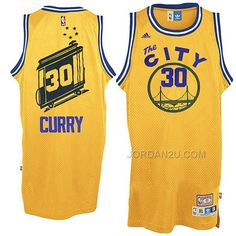 Stephen  Curry Jersey - Golden State Warriors The City Yellow  Throwback   Jersey. 796a1bd9d