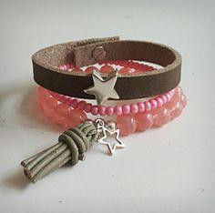 M-Brace sieraden - roze en grijs setje €14,95