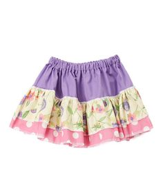 Another great find on #zulily! Lavender Floral Dot Twirl Skirt - Infant, Toddler & Girls #zulilyfinds