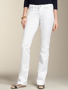 Talbots - Signature Fit White Straight-Leg Jean