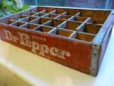 Dr Pepper crate