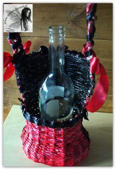 Kosz-gorset na wino. www.sindarin.bazarek.pl