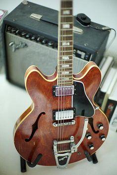 gibson guitar wih a fender amp Jazz Guitar, Music Guitar, Guitar Amp, Cool Guitar, Playing Guitar, Guitar Room, Les Paul, Banjo, Archtop Guitar