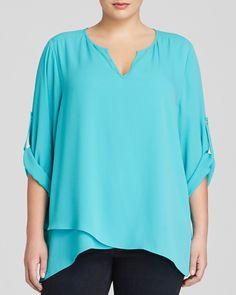 Karen Kane Turquoise Plus Size Fashion Asymmetric Wrap Hem Top available from Bloomingdales #Karen_Kane #Womens #Plus_Size #Fashion #Turquoise #Asymmetric #Hem #Top #Plus #Size #KarenKane #Plus_Size_Fashion #Bloomingdales