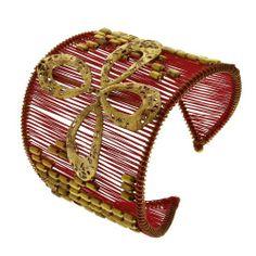 Red and Gold Bracelet Fashion Handmade Jewelry Costume Bollywood ShalinIndia,http://www.amazon.com/dp/B00AA8NLVW/ref=cm_sw_r_pi_dp_bmG9rb14NZNTP1X7