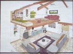 Looking for a Maison Interieur Mezzanine. We have Maison Interieur Mezzanine and the other about Maison Interieur it free. Interior Design Sketches, Interior Rendering, Interior Architecture, Architect Logo, Architect House, Casa Patio, House Plans, Layout, House Design