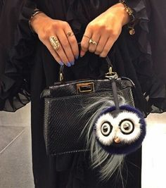 Peekaboo with Fendi Monster bag charm 2a7c5ad71bc11