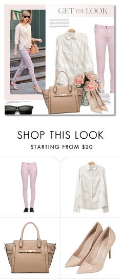 """Get the look"" by vkmd ❤ liked on Polyvore featuring Patrizia Pepe, Anja, Topshop and GetTheLook"