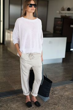 drop-crotch slouch pant   Emerson Fry