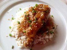 MUSLOS DE POLLO TERIYAKI  by Pam Merino @Cookbooth http://www.cookbooth.com/recipe//muslos-de-pollo-teriyaki-77817