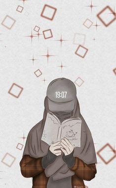 Islamic Girl Pic, Islamic Art, Muslim Pictures, Hijab Drawing, Anime Muslim, Muslim Hijab, Girl Cartoon Characters, Girl Emoji, Islamic Cartoon