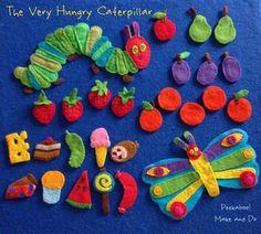 : The Very Hungry Caterpillar Felt Story Peekaboo!: The Very Hungry Caterpillar Felt Story Flannel Board Stories, Felt Board Stories, Felt Stories, Flannel Boards, Felt Diy, Felt Crafts, Diy And Crafts, Crafts For Kids, Hungry Caterpillar Activities