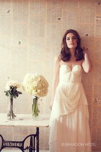 The backdrop and the dress