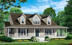 As part of a complete line of plans this home builds off a spacious cape design featuring a master suite, dining room and an open foyer. Depending on the needs of the family there are several plans to choose from, each offering specific family needs and amenities. The other plans in the family include the Glenwood and the Glenmeadow.