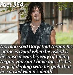 Ahw... It's such a brave thing to do! Daryl is amazing! Because of the beautiful actor who plays him of course!
