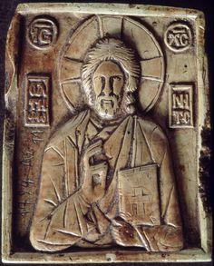 Icon with Christ Pantokrator