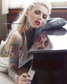Tattoo model Lady Lauren Brock