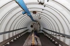 Interior of submarine