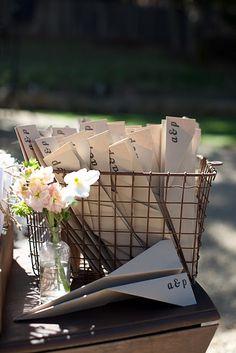 metal basket & paper airplane programs