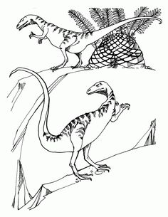 dinosaur compsognathus free printable coloring pages