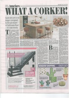 Our Mersea kitchen with cork bar stools featured in The Daily Mail.
