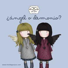 ¿De quién eres? ¿ángel o demonio? #gorjuss #santoro #angel #demonio #demon https://www.tiendagorjuss.com/