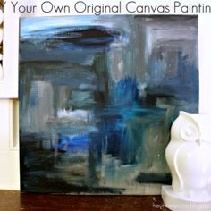 DIY Your Own Original Canvas Paintings: Ombre Drip Painting